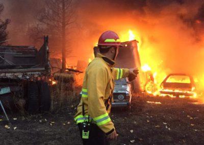 2017-10-17 Wildland Fire-Vehicle Fire